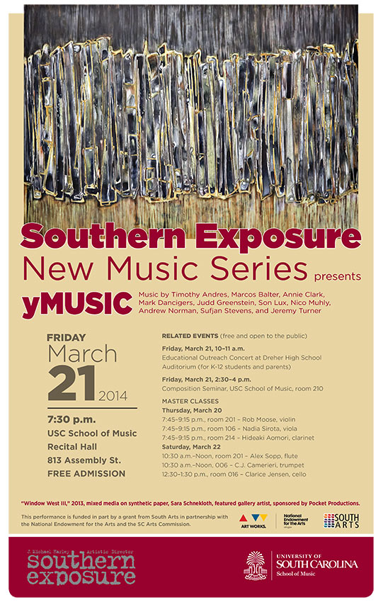 yMusic Sara Schnekloth Southern Exposure Pocket Productions